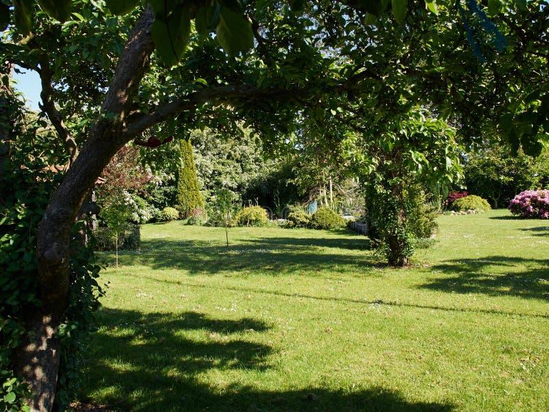 Formaler Garten der attraktiven englischen Art lizenzfreie stockfotos