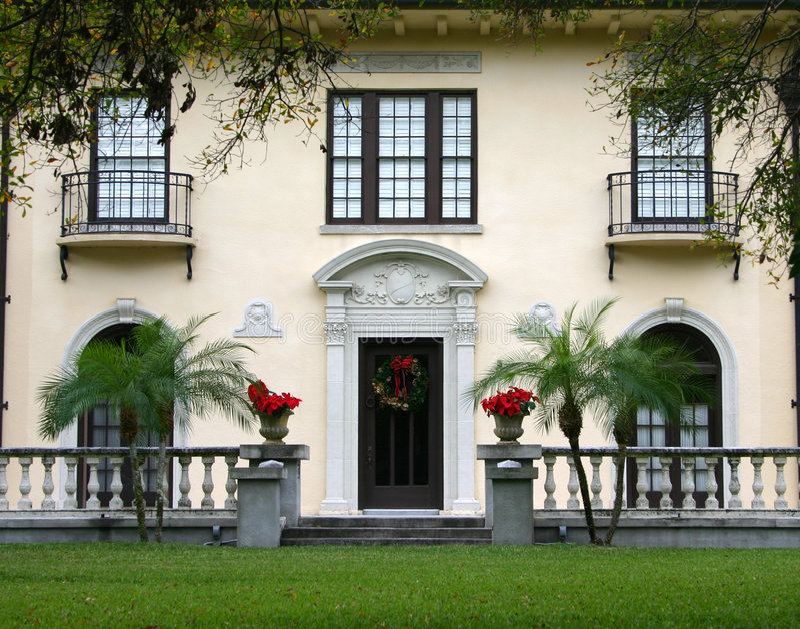 Formales Haus In Den Tropen Stockfotos