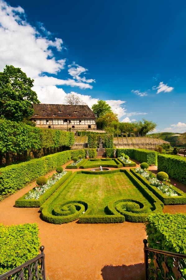 formalnego ogródu Germany wiosna zdjęcia stock