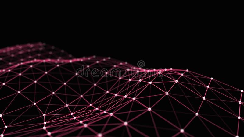 Formalnie zwi?zek informacja Transfer danych w sie? zwi?zku abstrakcjonistyczni pochodzenie danych ?wiadczenia 3 d ilustracja wektor