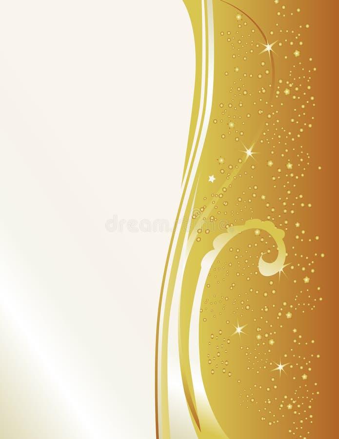 formalny złocisty zaproszenie ilustracji