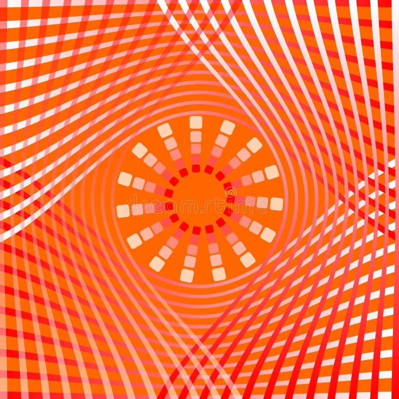 Formar den abstrakta bakgrundstegelplattan för apelsinen med överlappande lutningkurvbeståndsdelar och stjärnan i mitt, dekorativ vektor illustrationer