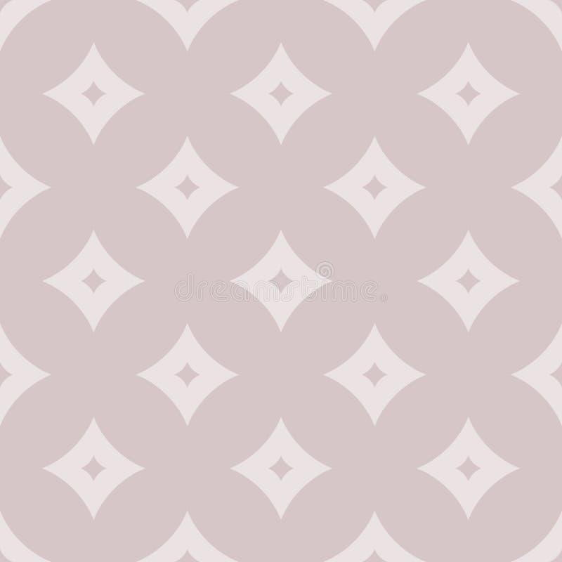 Formar den geometriska modellen f?r vektorn med diamanten, romber Blekt - rosa pastellfärgade färger stock illustrationer