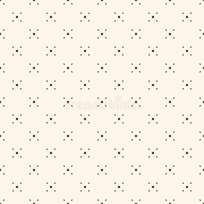 Formar den sömlösa modellen för det geometriska ingreppet med den mycket lilla diamanten royaltyfri illustrationer
