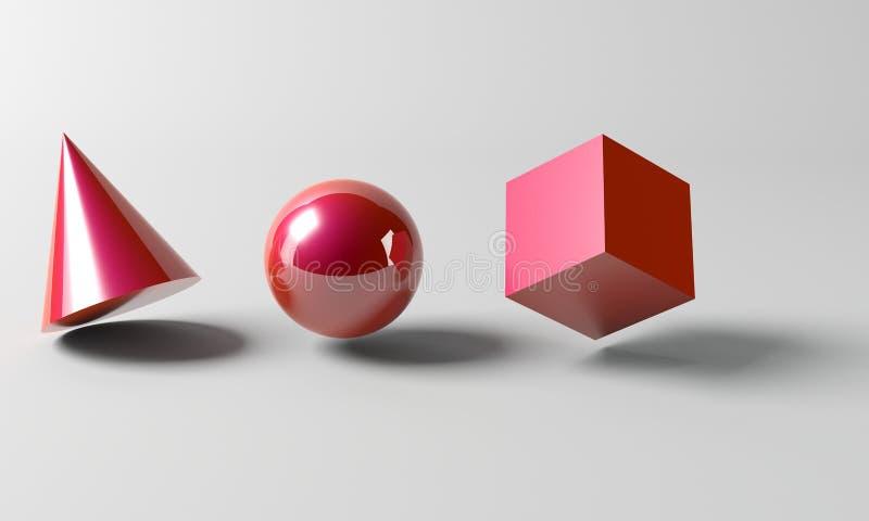 formas 3D ilustração stock