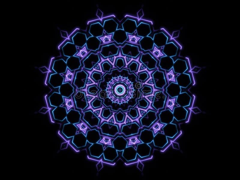 Formas abstractas azules y fondo negro libre illustration