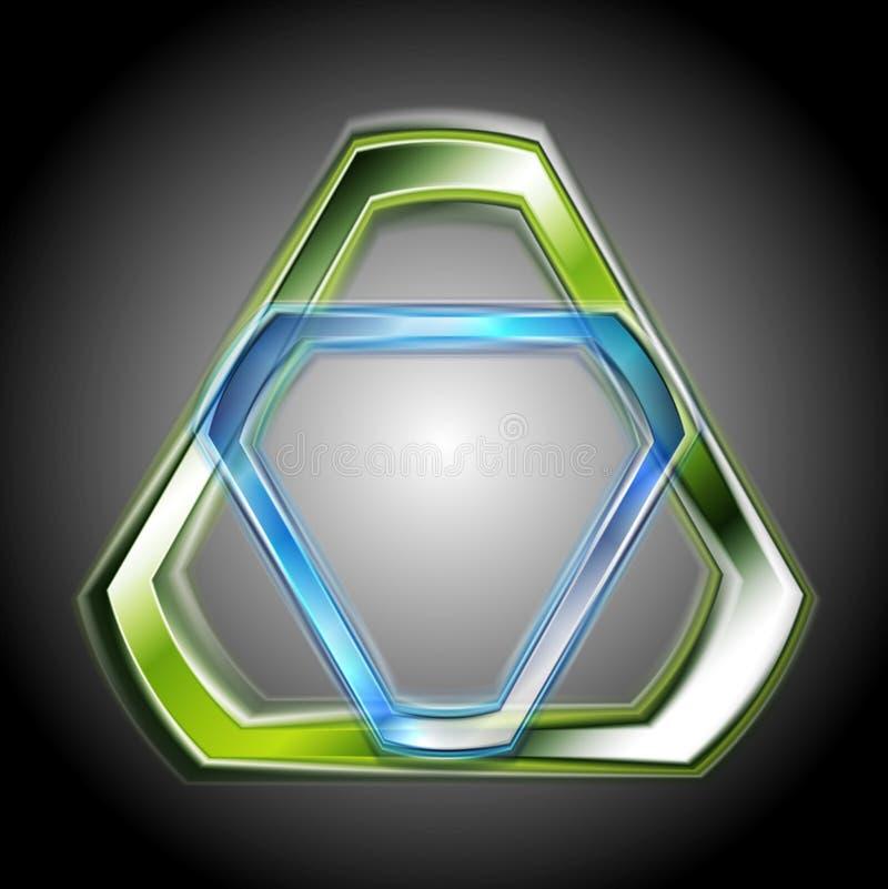 Formas abstractas coloridas. Logotipo del vector ilustración del vector