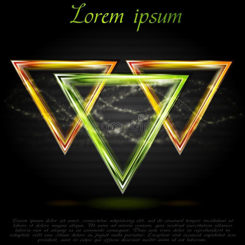 Formas abstractas coloridas. Logotipo del vector libre illustration