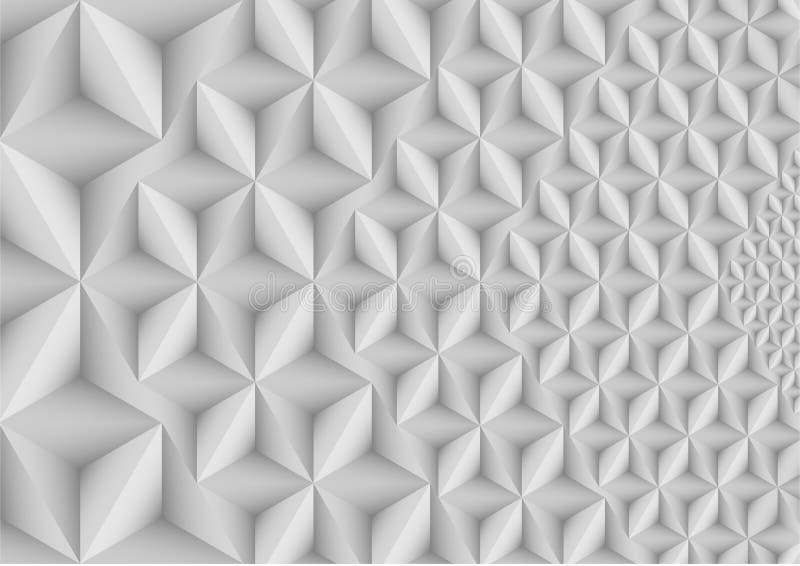 Formas abstractas de la perspectiva del fondo ilustración del vector