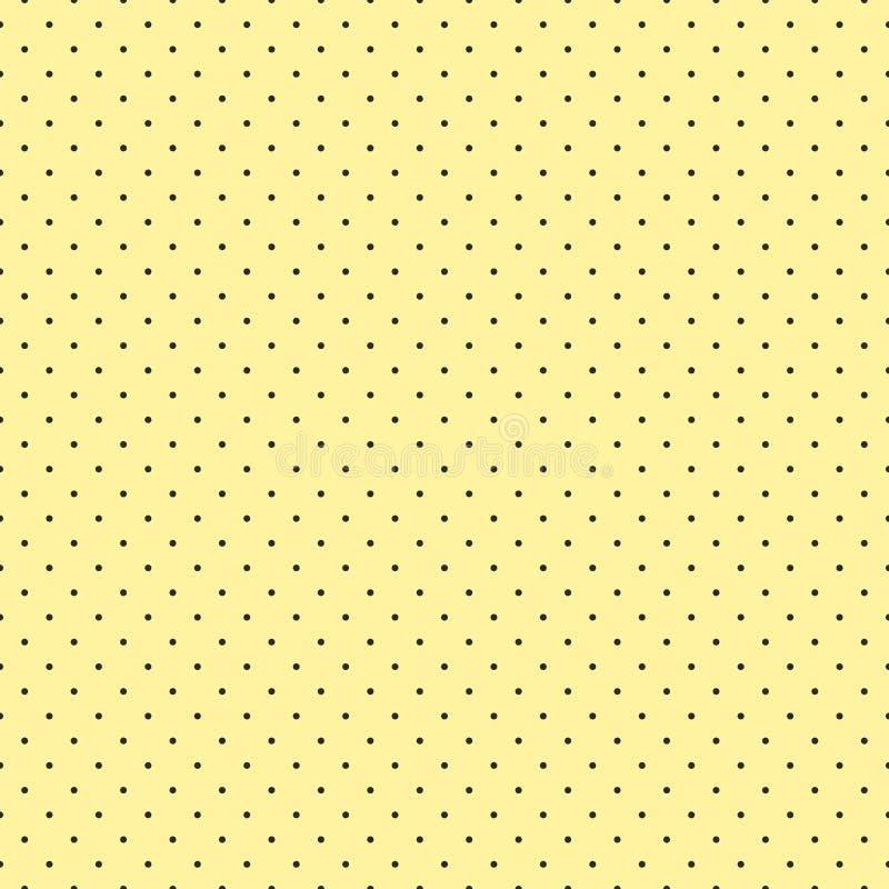 Formas abstractas inconsútiles del lunar en el fondo amarillo para la tela, el papel pintado, los manteles, las impresiones y los ilustración del vector