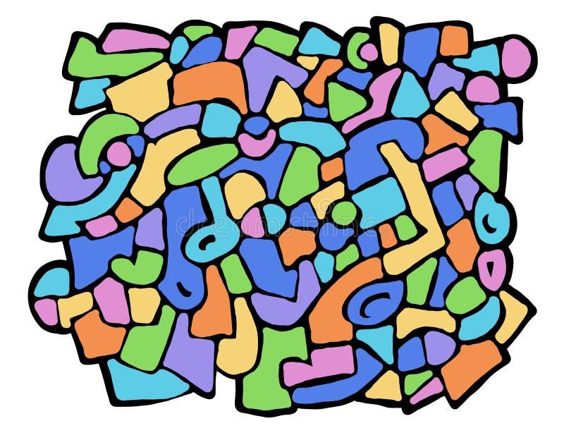 Formas abstratas coloridas ilustração do vetor
