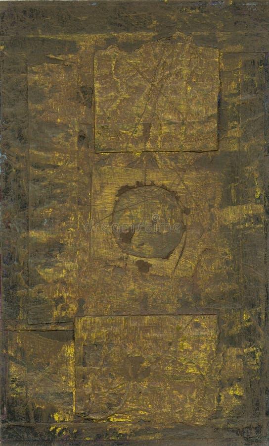 Formas abstratas de Brown fotografia de stock royalty free