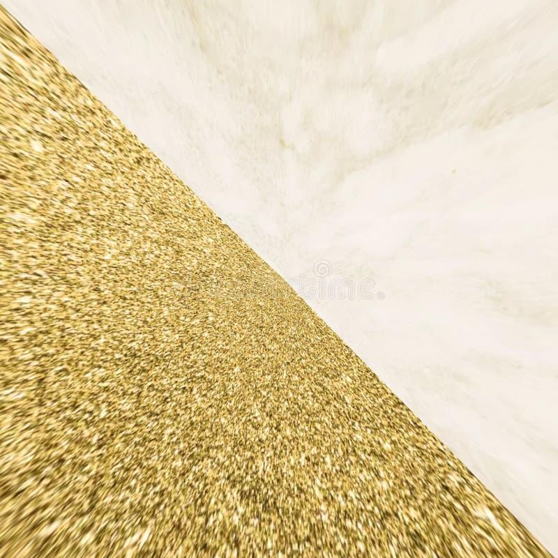 Formas abstratas de design de material de poeira dourada imagens de stock