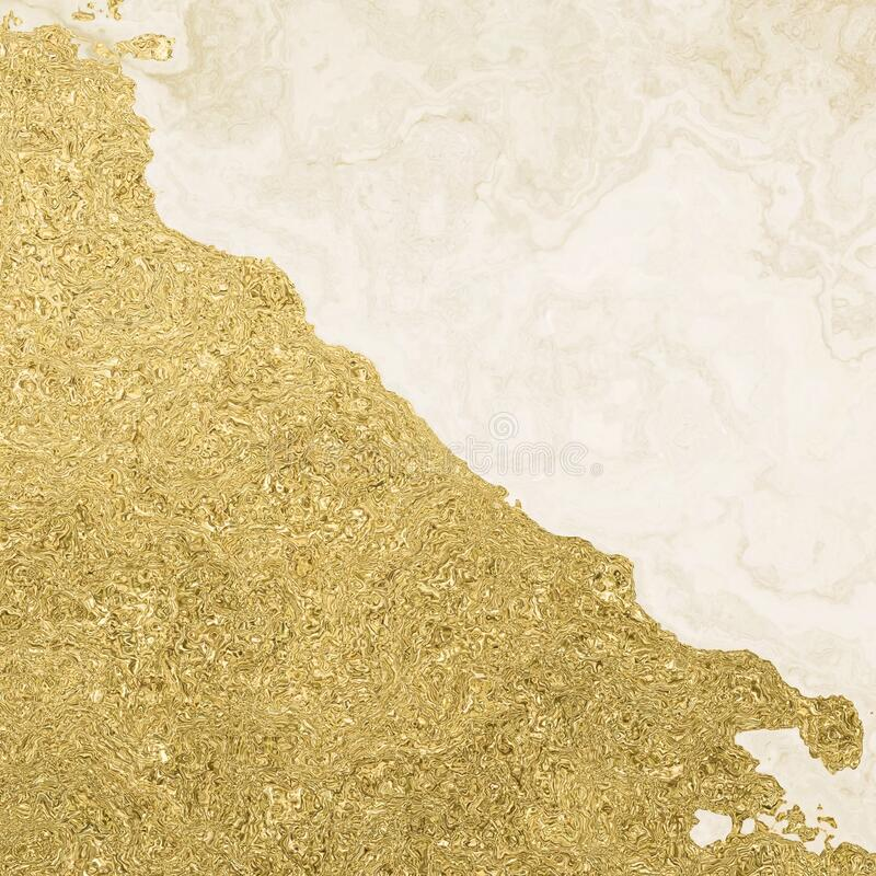 Formas abstratas de design de material de poeira dourada ilustração royalty free