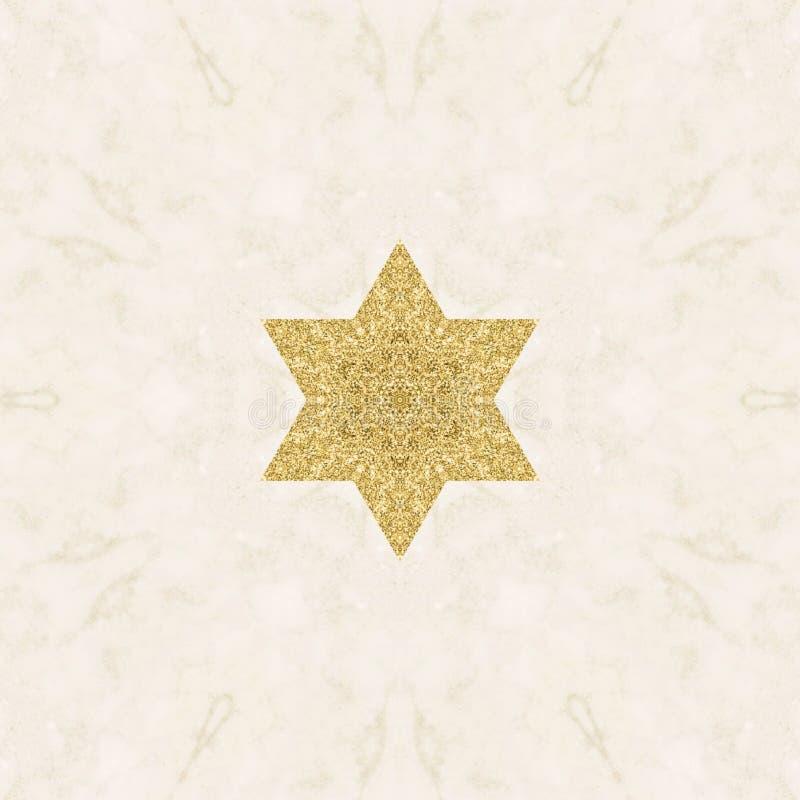 Formas abstratas de design de material de poeira dourada ilustração do vetor