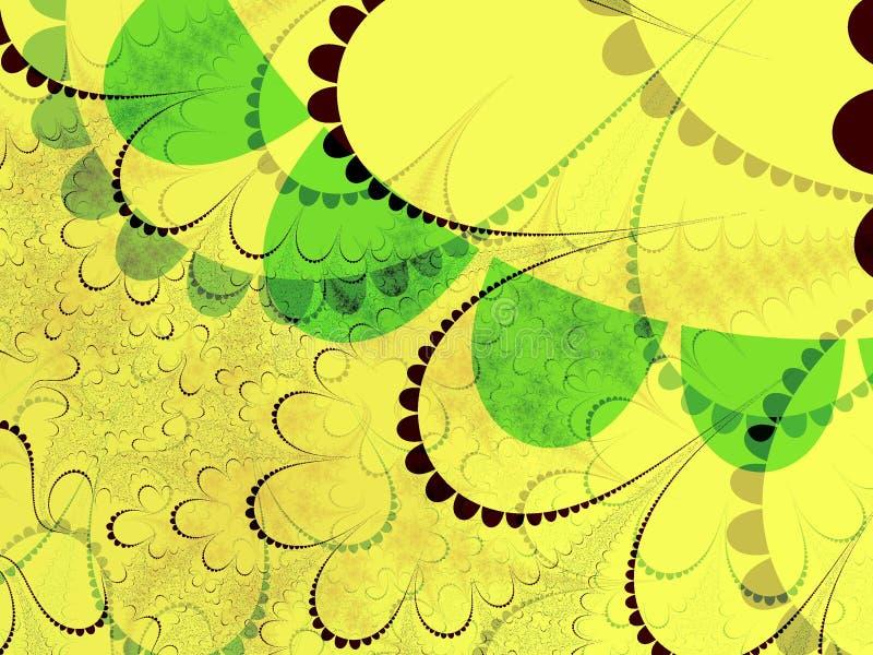 Formas amarelas e verdes foto de stock royalty free