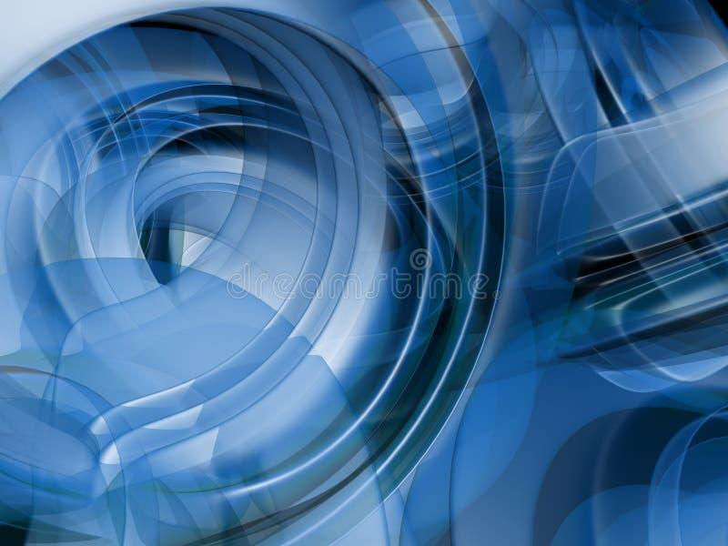 Formas azuis abstratas ilustração do vetor