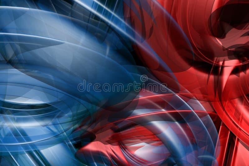 Formas azuis e vermelhas abstratas ilustração stock