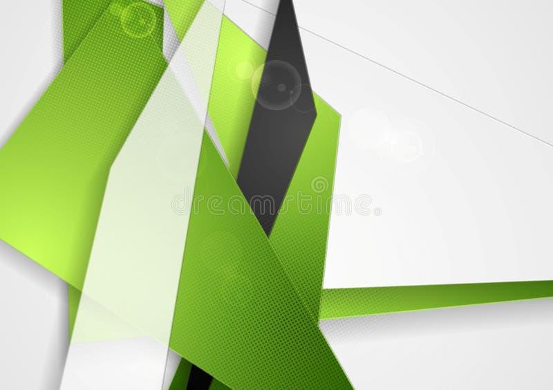Formas brilhantes da tecnologia abstrata ilustração do vetor