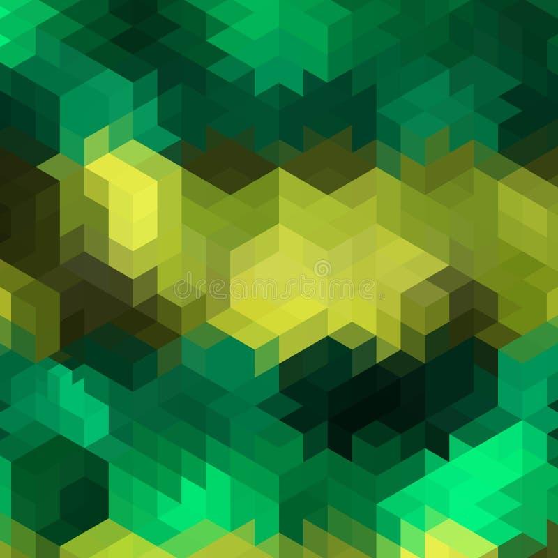 Formas cúbicas verdes disposição moderna para anunciar - Vektorgrafik ilustração do vetor