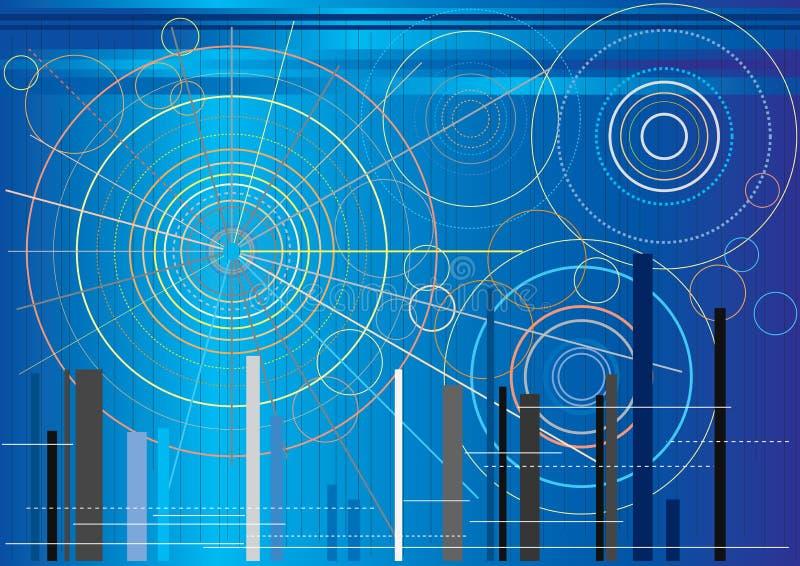 Formas circulares futuristas ilustração royalty free