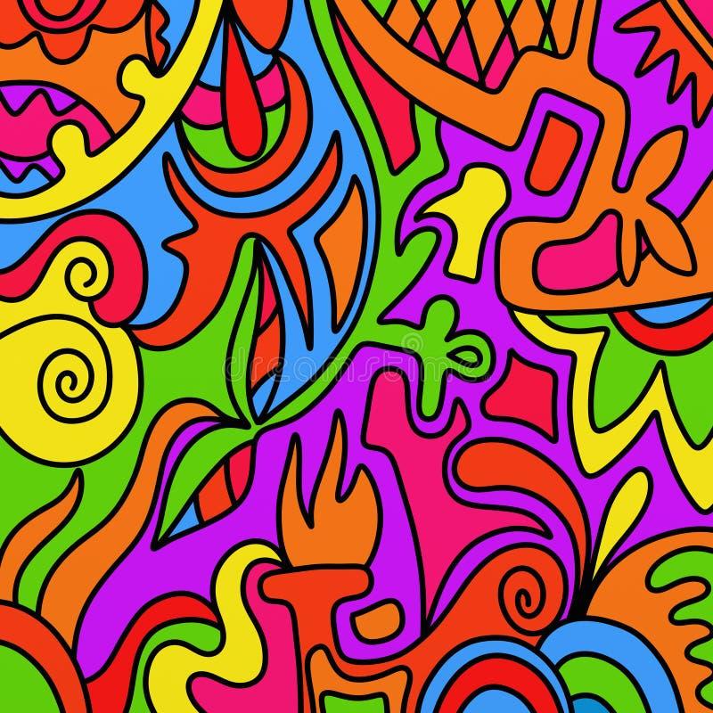 Formas coloridas ilustração do vetor