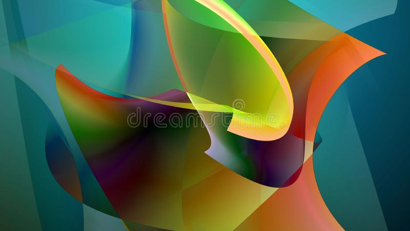 Formas coloridas abstratas redemoinho e fundo da luz ilustração stock