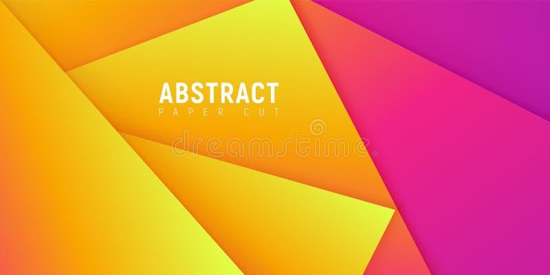Formas coloridas do corte do papel de Minimalistic, fundo do vetor ilustração do vetor