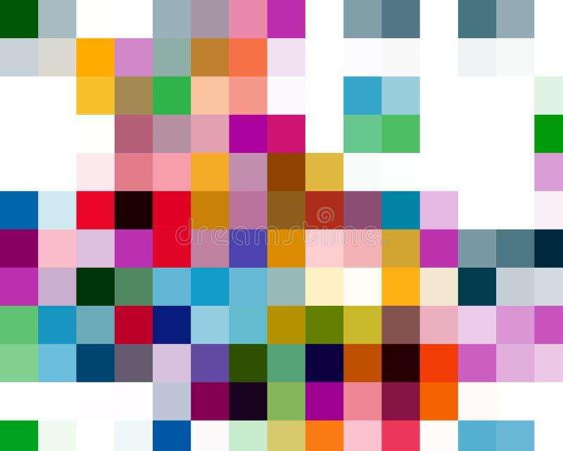 Formas cuadradas coloridas, formas, geometrías, fondo, geometrías, fondo brillante, geometrías coloridas stock de ilustración