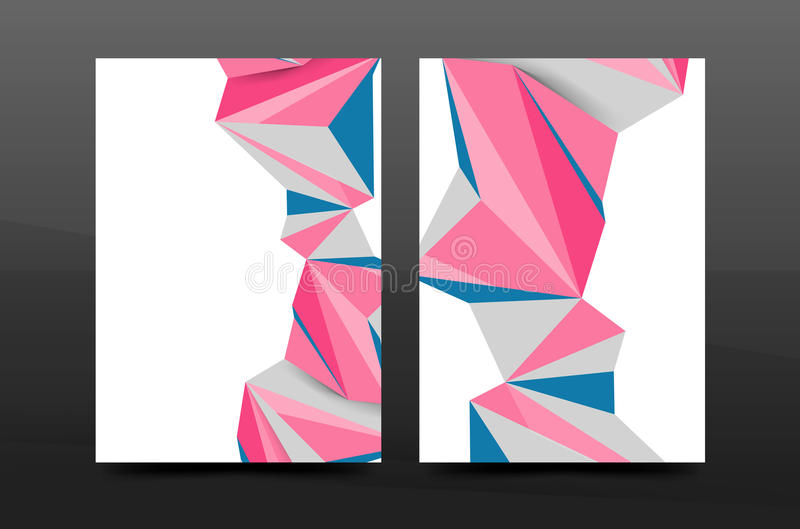 formas 3d geométricas abstratas Composição mínima moderna Projeto da tampa do informe anual do negócio ilustração royalty free