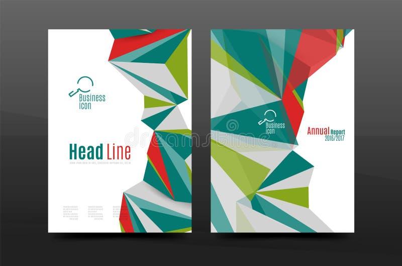 formas 3d geométricas abstratas Composição mínima moderna Projeto da tampa do informe anual do negócio ilustração do vetor
