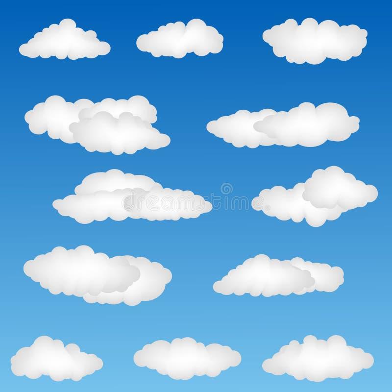Formas da nuvem ilustração royalty free