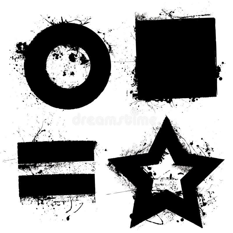 Formas de Grunge ilustração do vetor