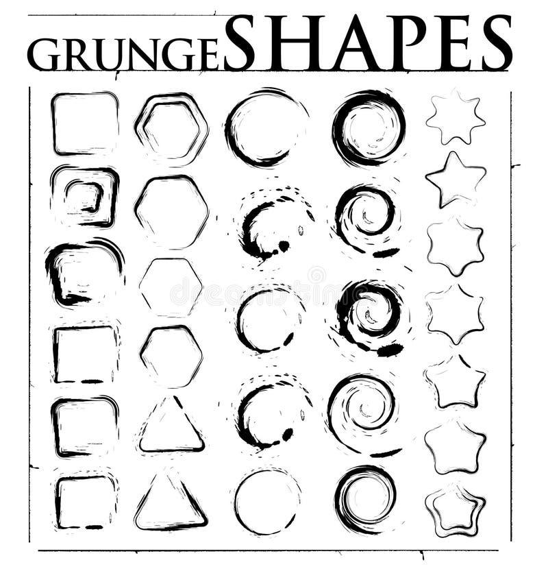 Formas de Grunge ilustração stock