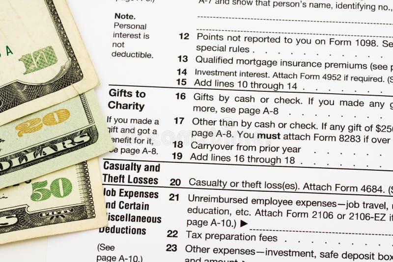 Formas de impuesto imagen de archivo libre de regalías