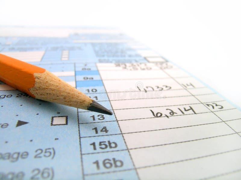 Formas de impuesto imagenes de archivo