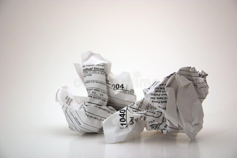 Formas de impuesto (frustración con impuestos) fotografía de archivo