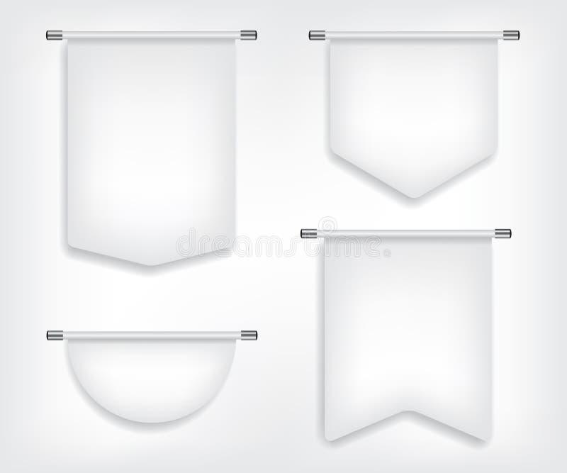Formas de la bandera blanca de la bandera diversas ilustración del vector