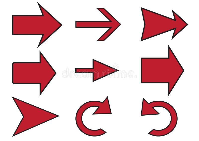 Formas de la flecha libre illustration