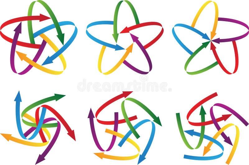 Formas de la punta de flecha stock de ilustración