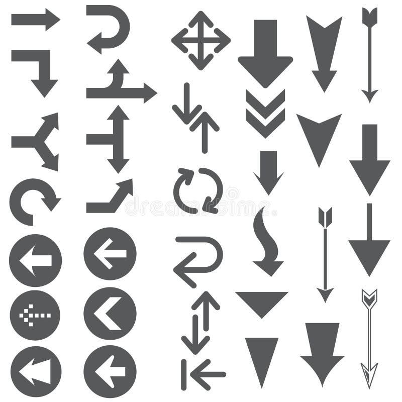Formas de los indicadores de flecha libre illustration
