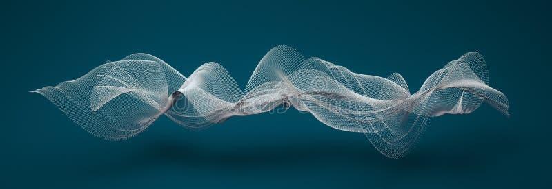 Formas de onda abstractas stock de ilustración