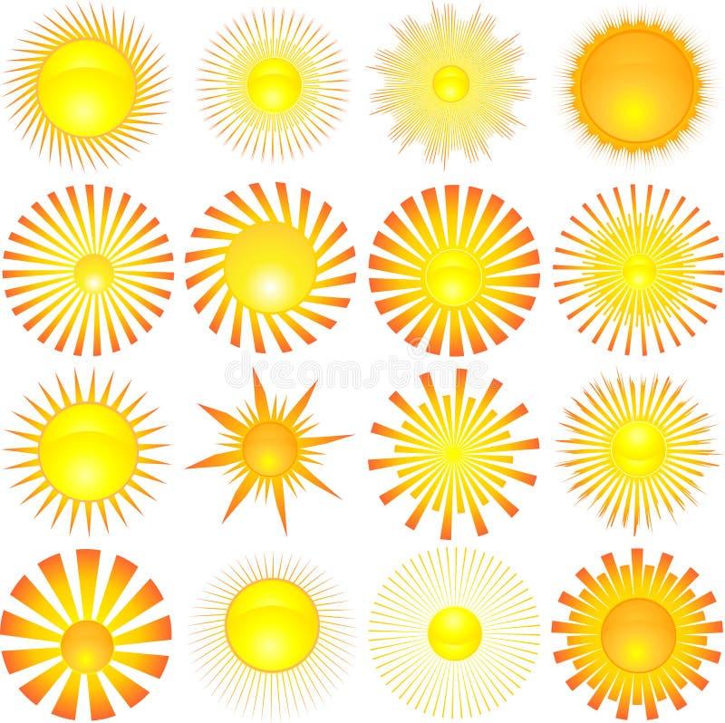 Formas de Sun ilustração royalty free