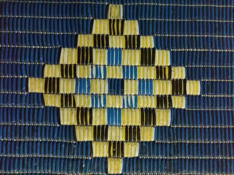 Formas del arsenal y líneas de la matriz imagenes de archivo
