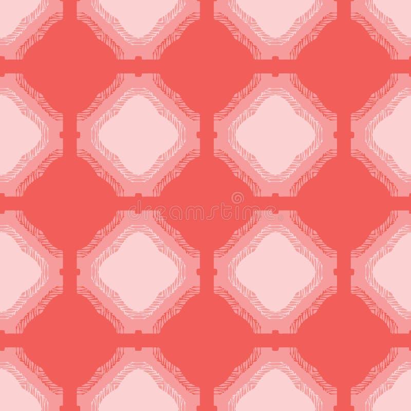 Formas del cuadrado de la franja del extracto Fondo incons?til del modelo del vector Estilo exhausto del geo del matisse de la ma libre illustration