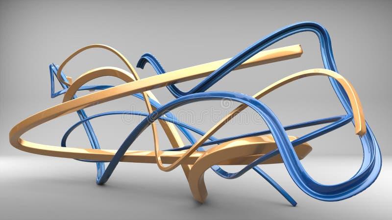 Formas del extracto del arte moderno del azul y del oro libre illustration