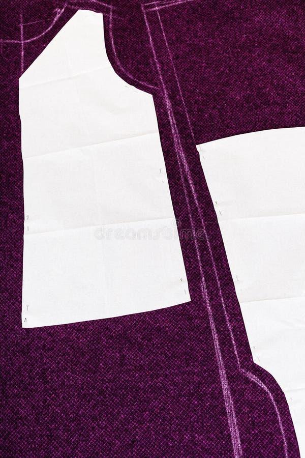 Formas del papel de trazo de corte del modelo del vestido imagen de archivo libre de regalías