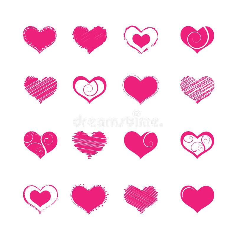 Formas do coração ilustração do vetor
