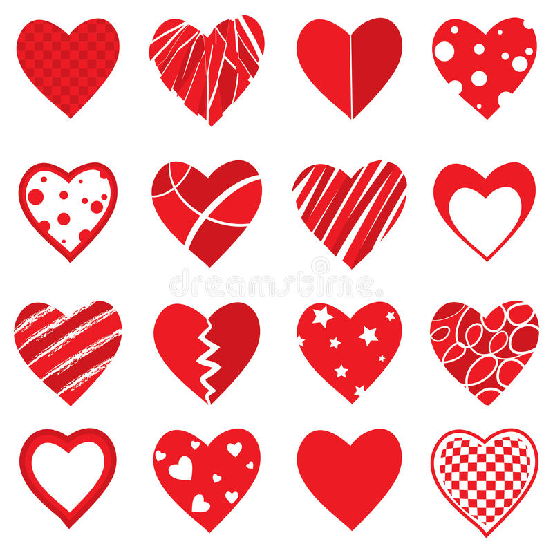 Formas do coração do vetor