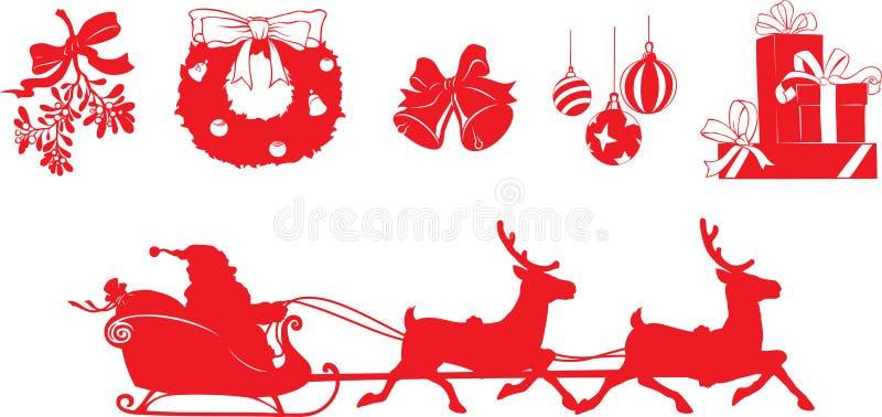 Formas do Natal ilustração royalty free
